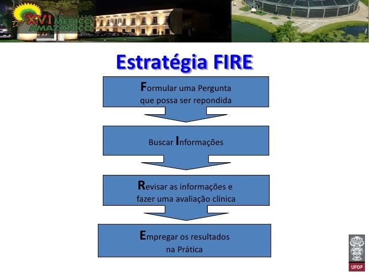 Estratégia FIRE   Formular uma Pergunta  que possa ser repondida     Buscar Informações  Revisar as informações e  fazer u...