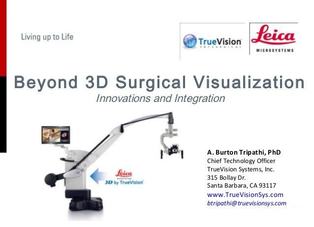 Beyond 3D Surgical Visualization         Innovations and Integration                                A. Burton Tripathi, Ph...