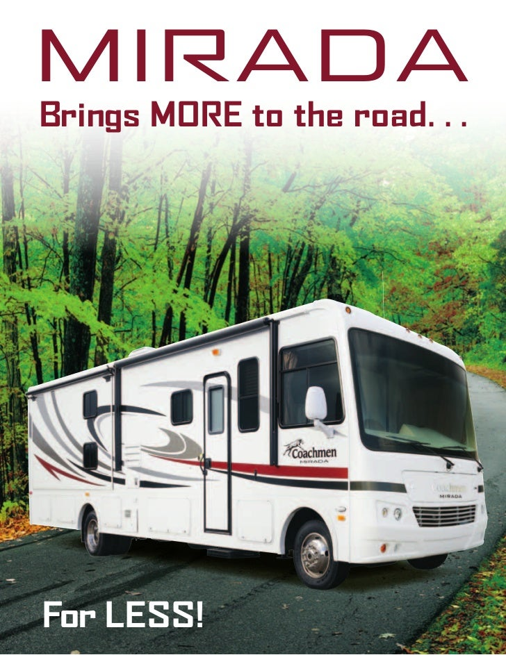 2012 coachmen mirada class a motorhome 2012 coachmen mirada class a motorhome miradabrings more to the road r less cheapraybanclubmaster Gallery