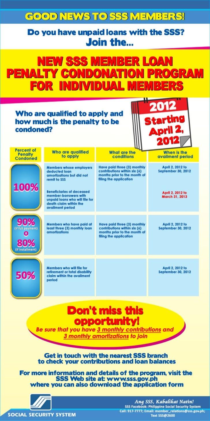 2012 Condonation Program