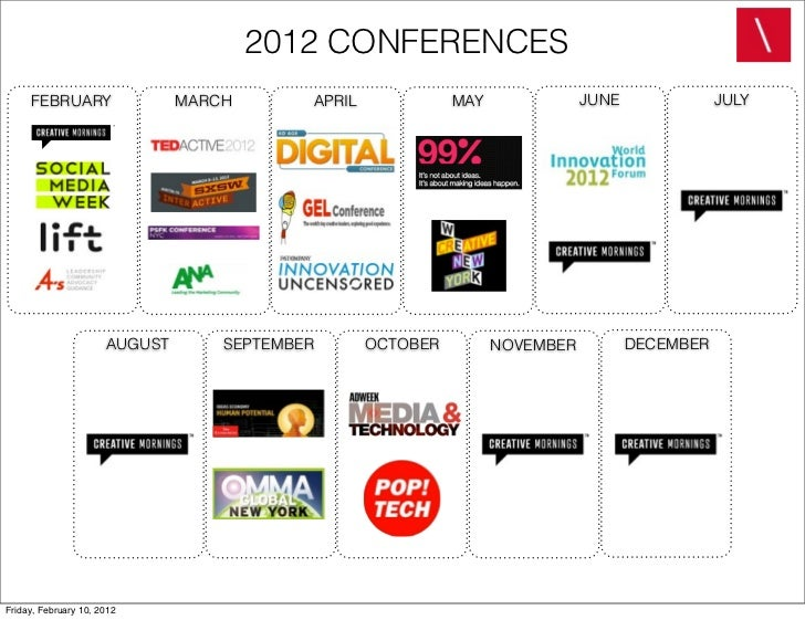 2012 CONFERENCES     FEBRUARY                  MARCH       APRIL             MAY              JUNE              JULY      ...