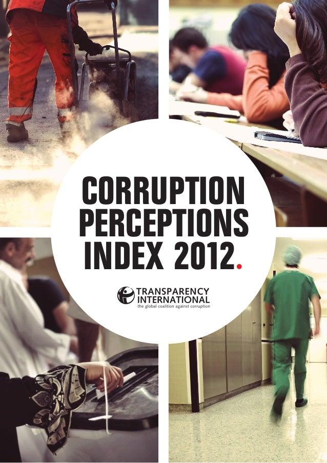 CORRUPTIONPERCEPTIONSINDEX 2012.