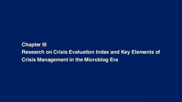 crisis and crisis management essay Introduction crisis management is a critical organizational function failure can result in serious harm to stakeholders, losses for an organization, or end its very existence.