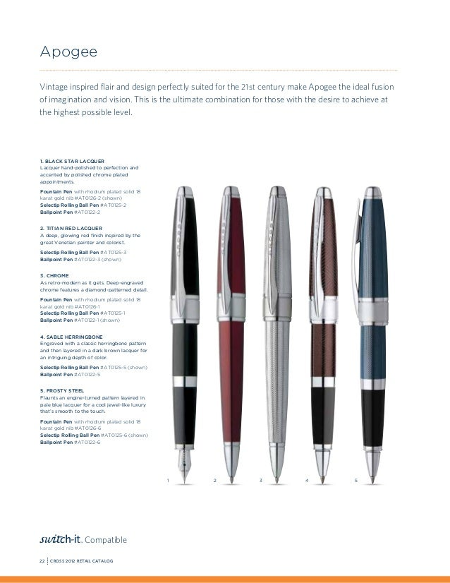 Brand New #AT0425-2 Cross Affinity Crimson Red Rollerball Pen