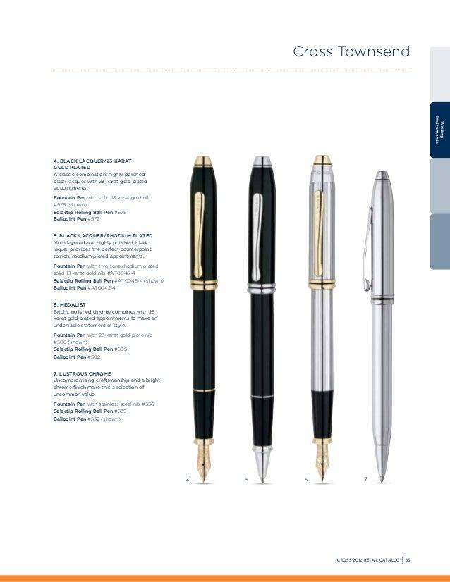 Cross Townsend 23 kt.Gold Plated Fine Pt Fountain Pen Nib  86070S