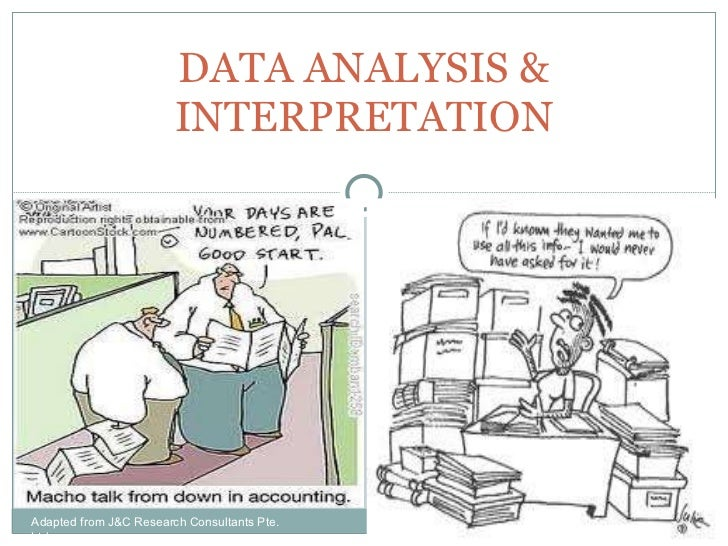 DATA ANALYSIS & INTERPRETATION Adapted from J&C Research Consultants Pte. Ltd.