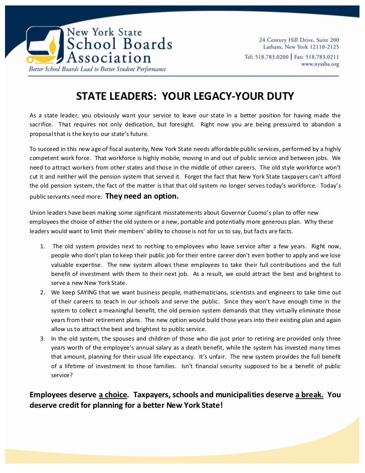 STATE LEADERS: YOUR LEGACY-YOUR DUTYAs a state leader, you obviously want your service to leave our state in a better posi...