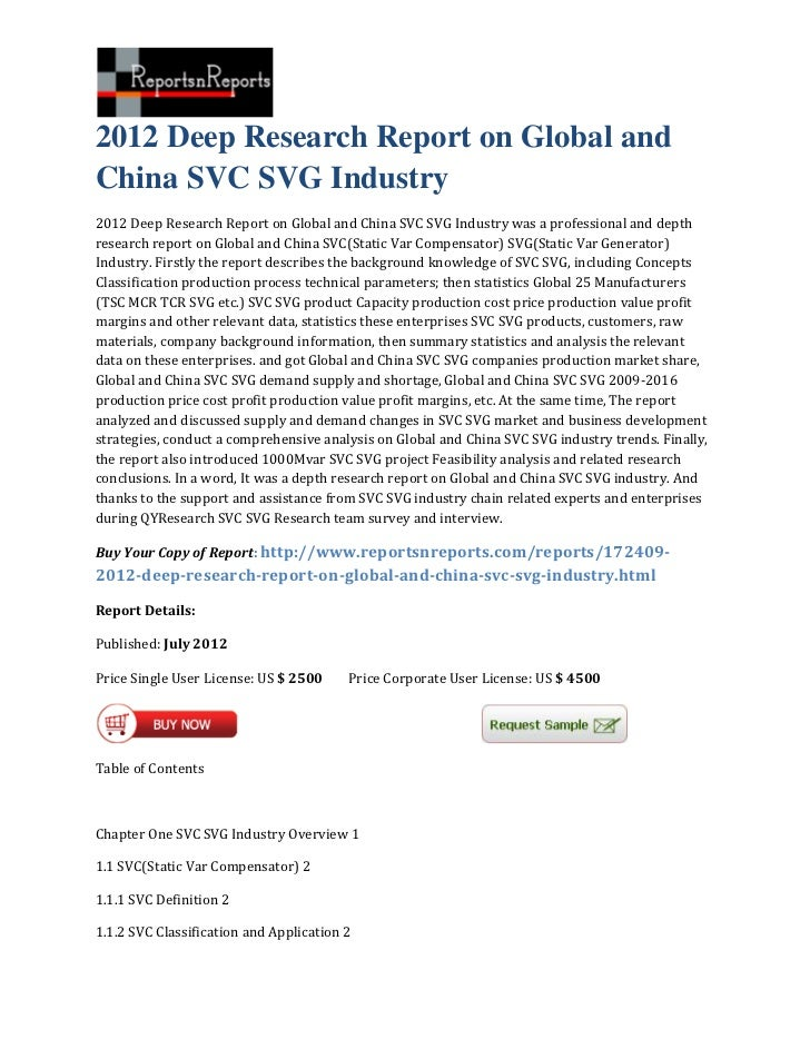 2012 Deep Research Report on Global andChina SVC SVG Industry2012 Deep Research Report on Global and China SVC SVG Industr...