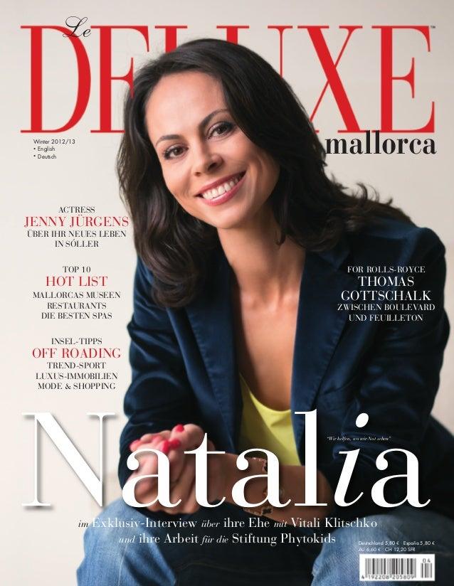 mallorca Natalia Le Winter 2012/13 . English . Deutsch Deutschland 5,80 € . España 5,80 € AU 6,60 € . CH 12,20 SFR im Exkl...