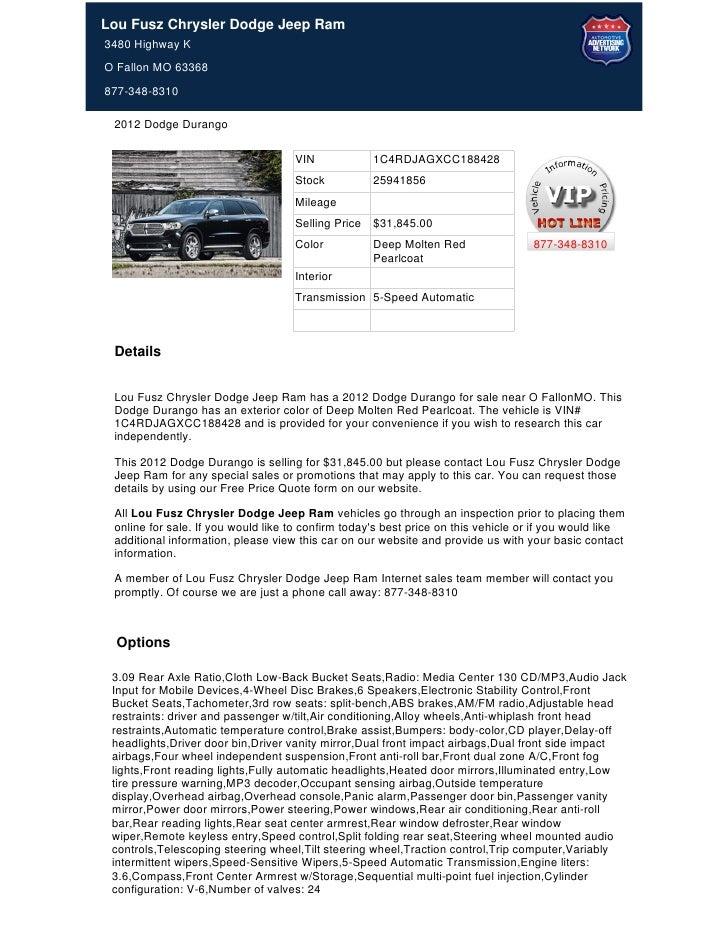 2012 dodge durango for sale near st. louis, mo