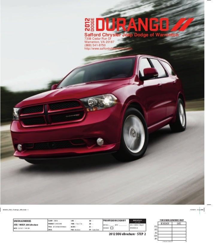 Dodge Dealership: 2012 Dodge Durango For Sale VA