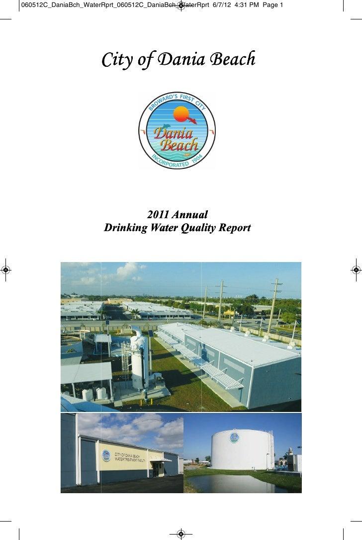 060512C_DaniaBch_WaterRprt_060512C_DaniaBch_WaterRprt 6/7/12 4:31 PM Page 1                      City of Dania Beach      ...