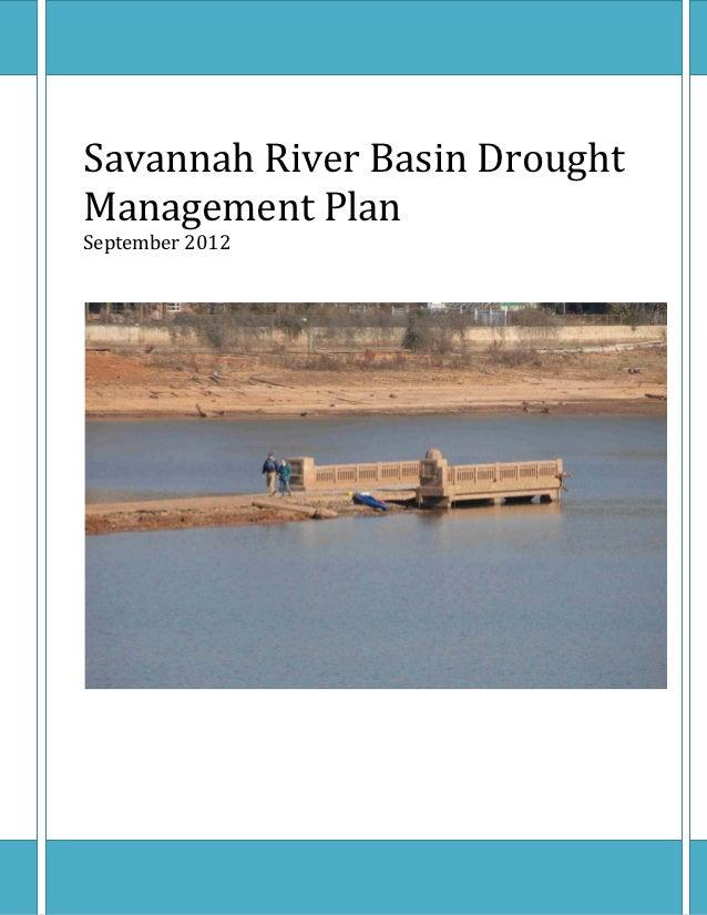 SavannahRiverBasinDroughtManagementPlanSeptember2012