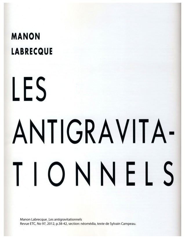 les antigravitationnels