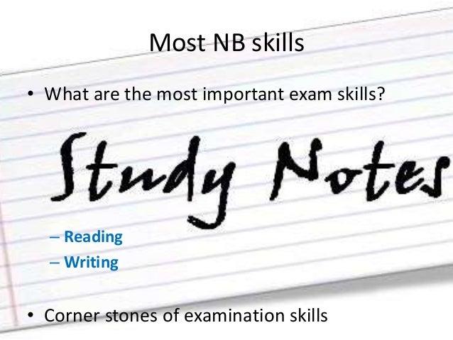 Exam writing skills