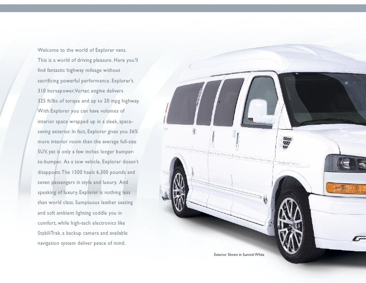 2012 Explorer Van Brochure