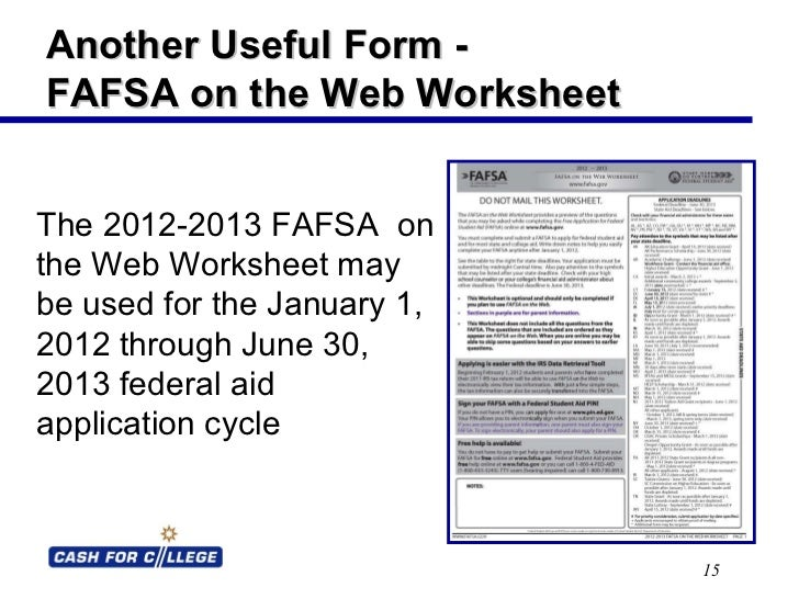 Worksheets Fafsa Worksheet fafsa on the web worksheet fsa pubs