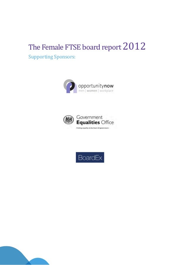 The Female Ftse Board Report   Milestone Or Millstone