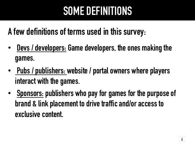 2012 Flash Games Market Survey Results slideshare - 웹