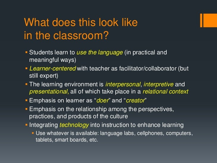 What Does An Innovative Classroom Look Like ~ St century world language teaching experience