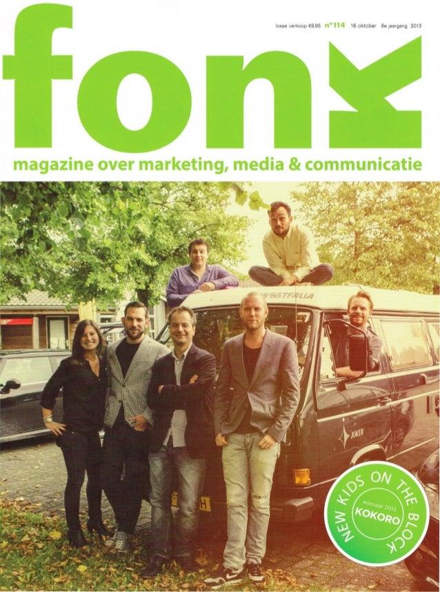 losse verkoop €9,95  n°114  16 oktober  6e jaargang 2013  magazine over marketing, media & communicatie