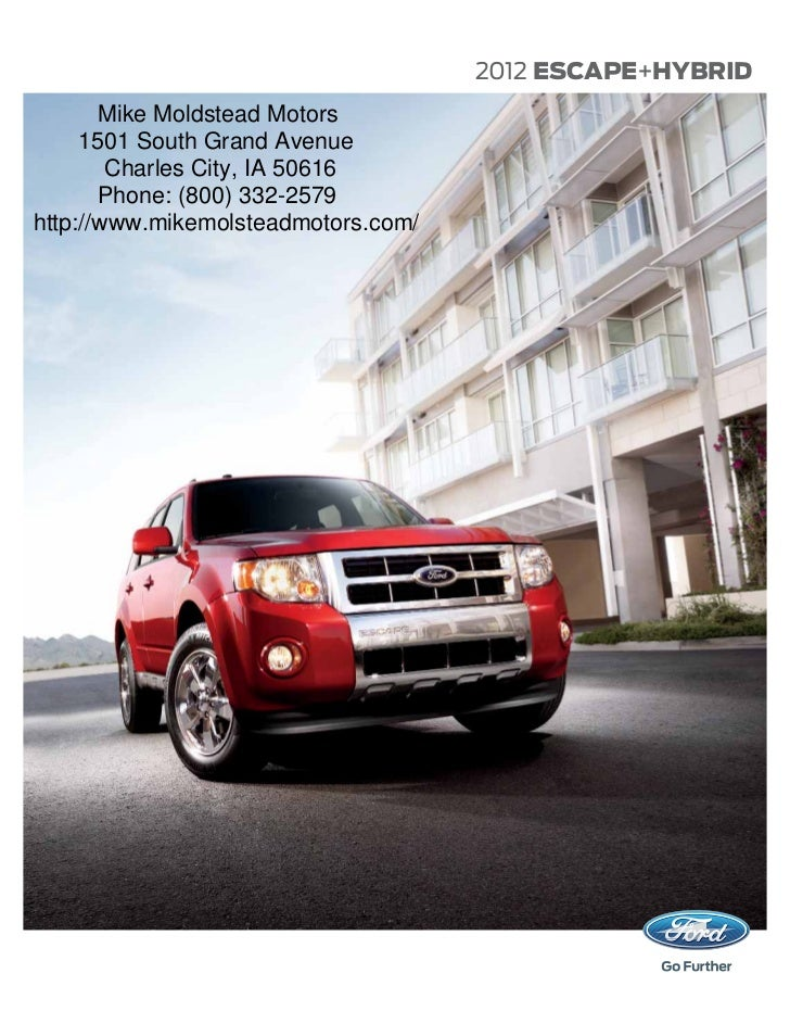 2012 ford escape brochure mason city ford waverly ford and clear. Black Bedroom Furniture Sets. Home Design Ideas