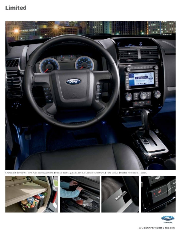 2012 Ford Escape Brochure Mason City Ford Waverly Ford