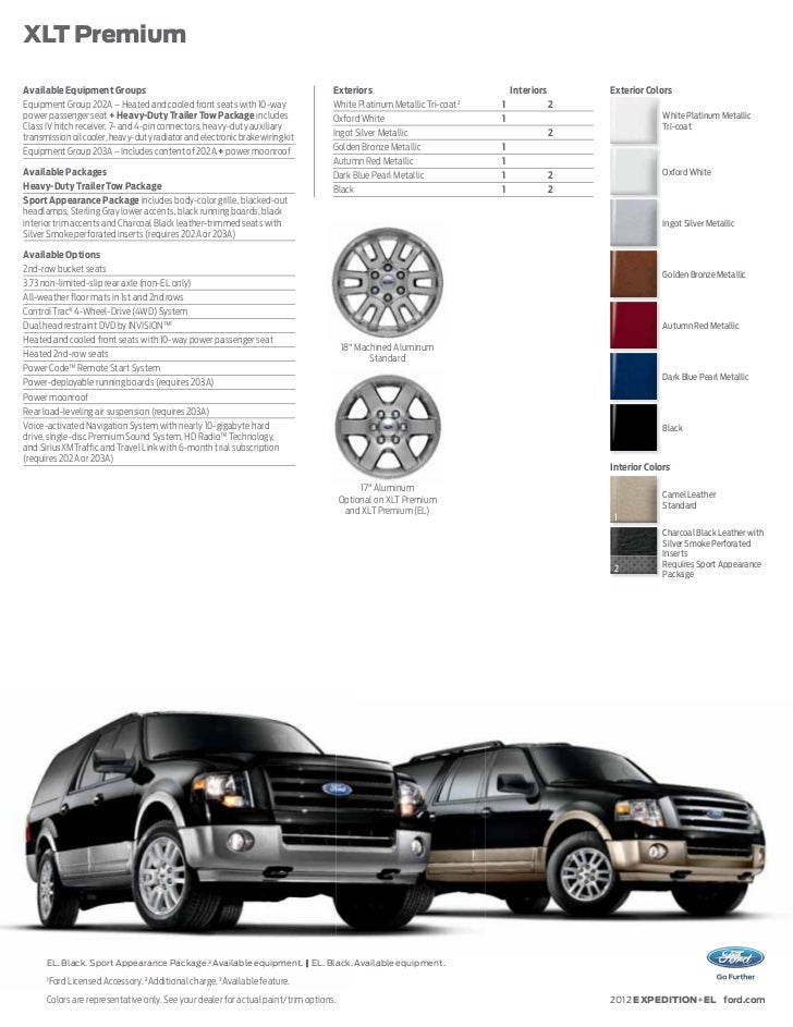 2012 ford expedition brochure