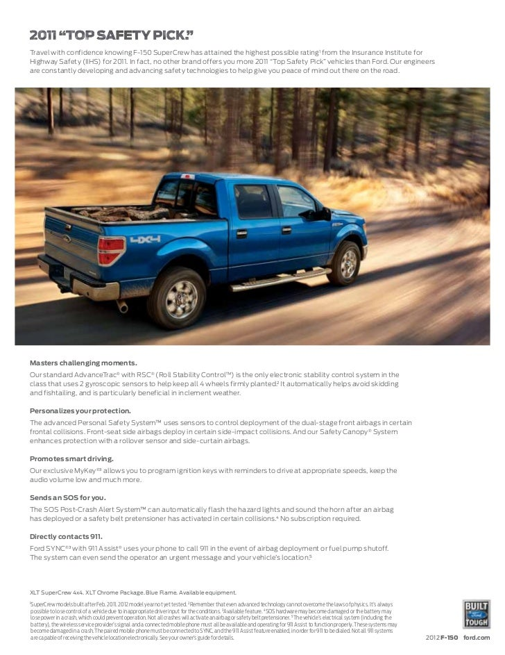 2012 ford f 150 brochure mason city ford waverly ford and clear l. Black Bedroom Furniture Sets. Home Design Ideas
