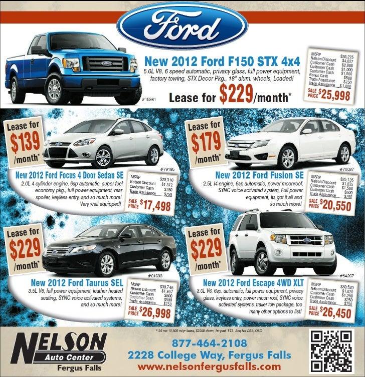 2012 ford lease special near fargo mn | nelson auto center
