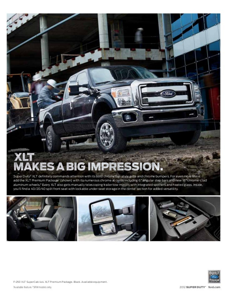 2012 ford super duty brochure mason city ford waverly ford and cl. Black Bedroom Furniture Sets. Home Design Ideas