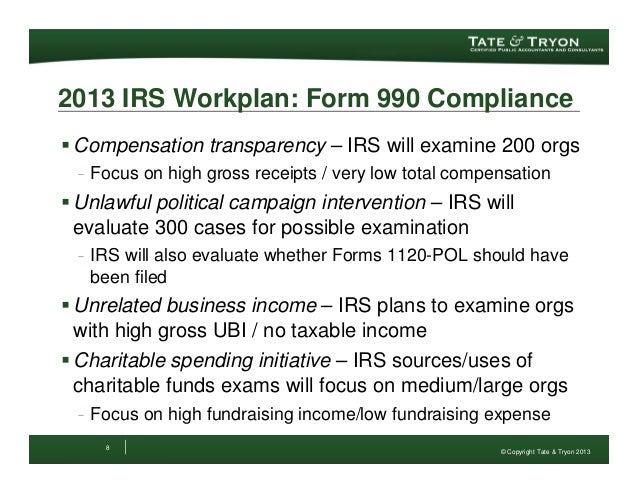 Update To The Irs Form 990 2012