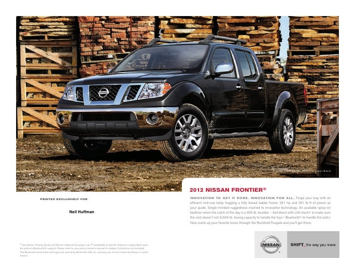2012 Nissan Frontier brochure by Neil Huffman Nissan Louisville KY