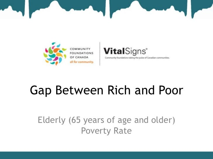 Gap Between Rich and Poor Elderly (65 years of age and older)            Poverty Rate