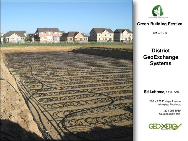 District GeoExchange Systems                                                                                Green Building...