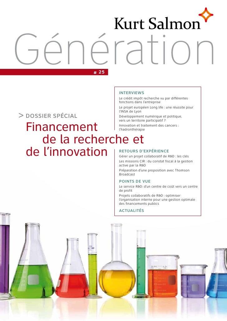 2012 recherche et innovation