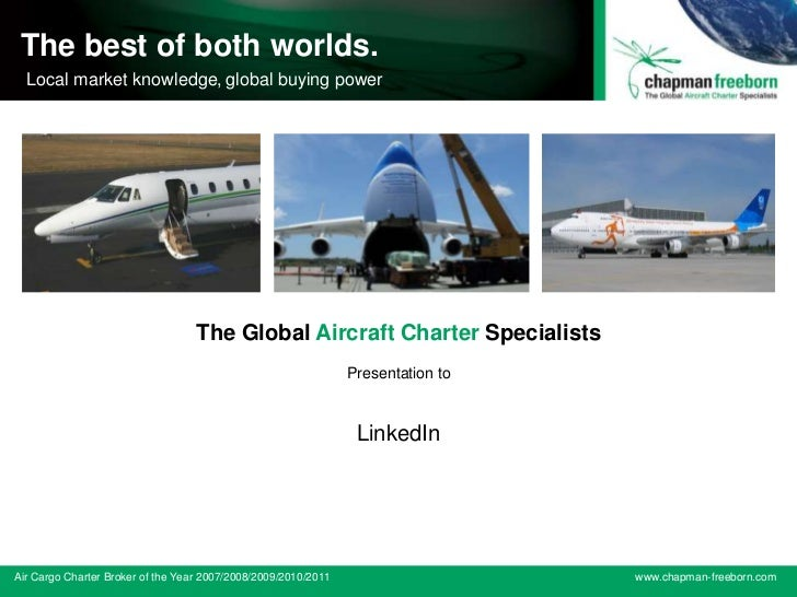 The Global Aircraft Charter Specialists The best of both worlds. ACW Air Cargo Broker of the buying power running Local ma...