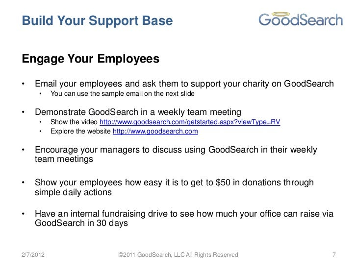 How To Get Started With GoodSearch And Raise Over $1000