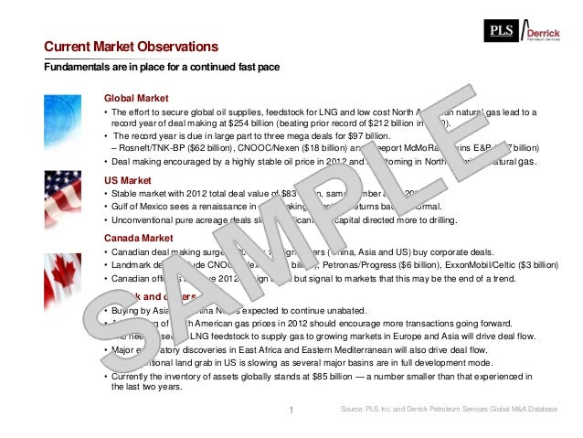 Current Market ObservationsFundamentals are in place for a continued fast pace            Global Market            • The e...