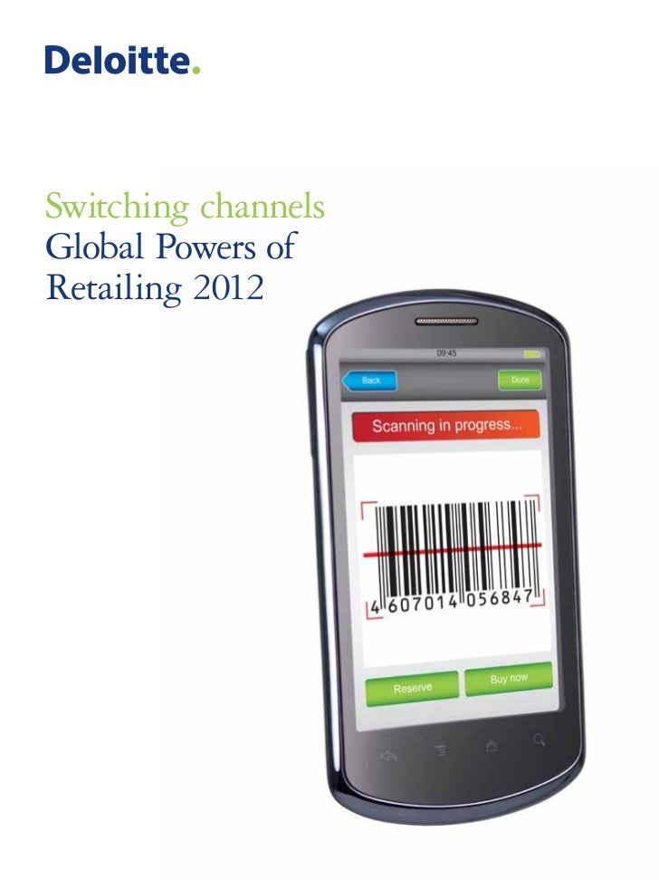 Switching channelsGlobal Powers ofRetailing 2012
