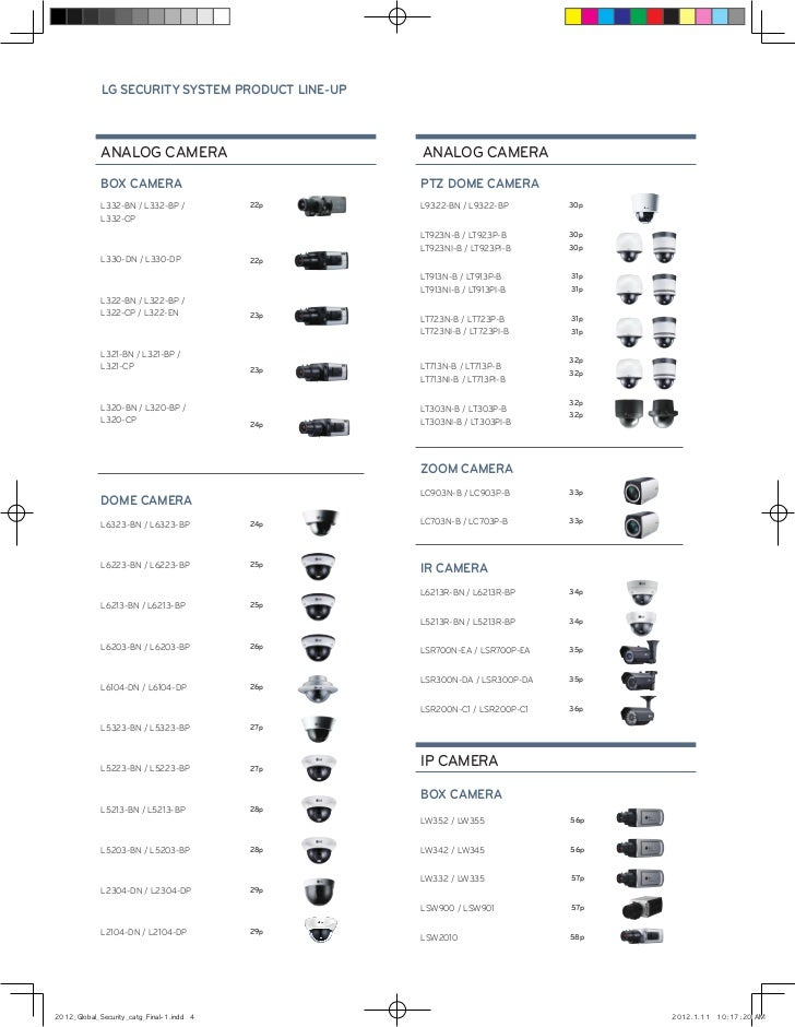 LG Electronics Chile: Catálogo 2012 de productos de Seguridad