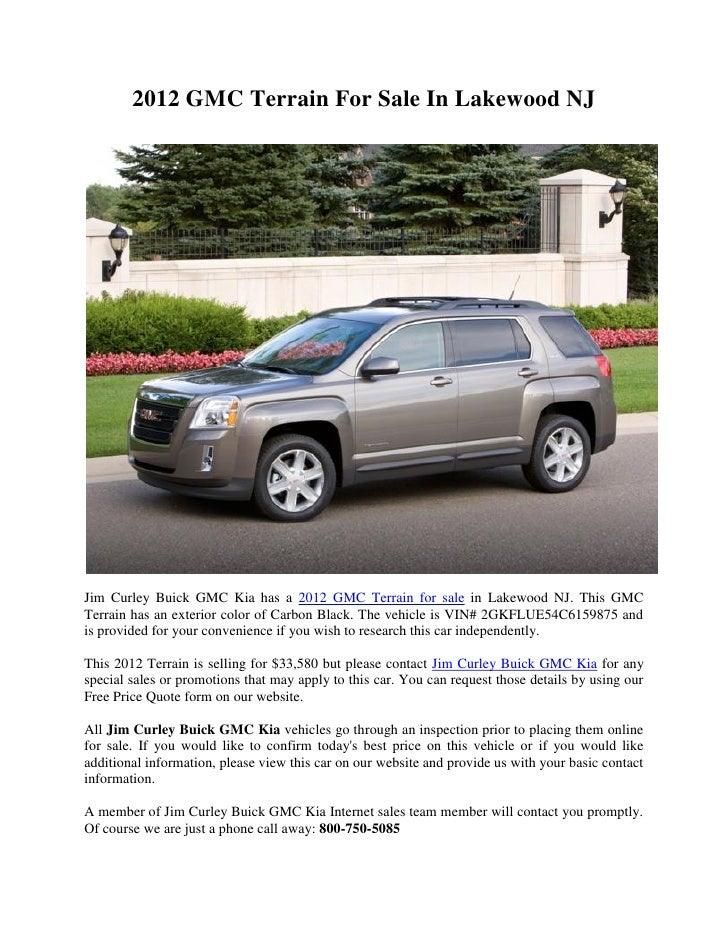 2012 gmc terrain for sale in lakewood nj slideshare
