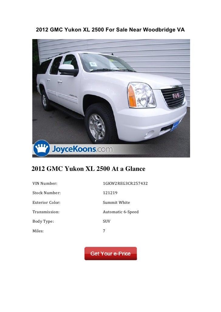 2012 Gmc Yukon Xl 2500 For Sale Near Woodbridge Va