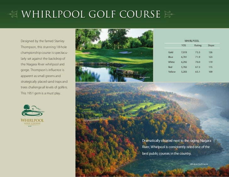 2012 Niagara Parks Golf Tournament Brochure