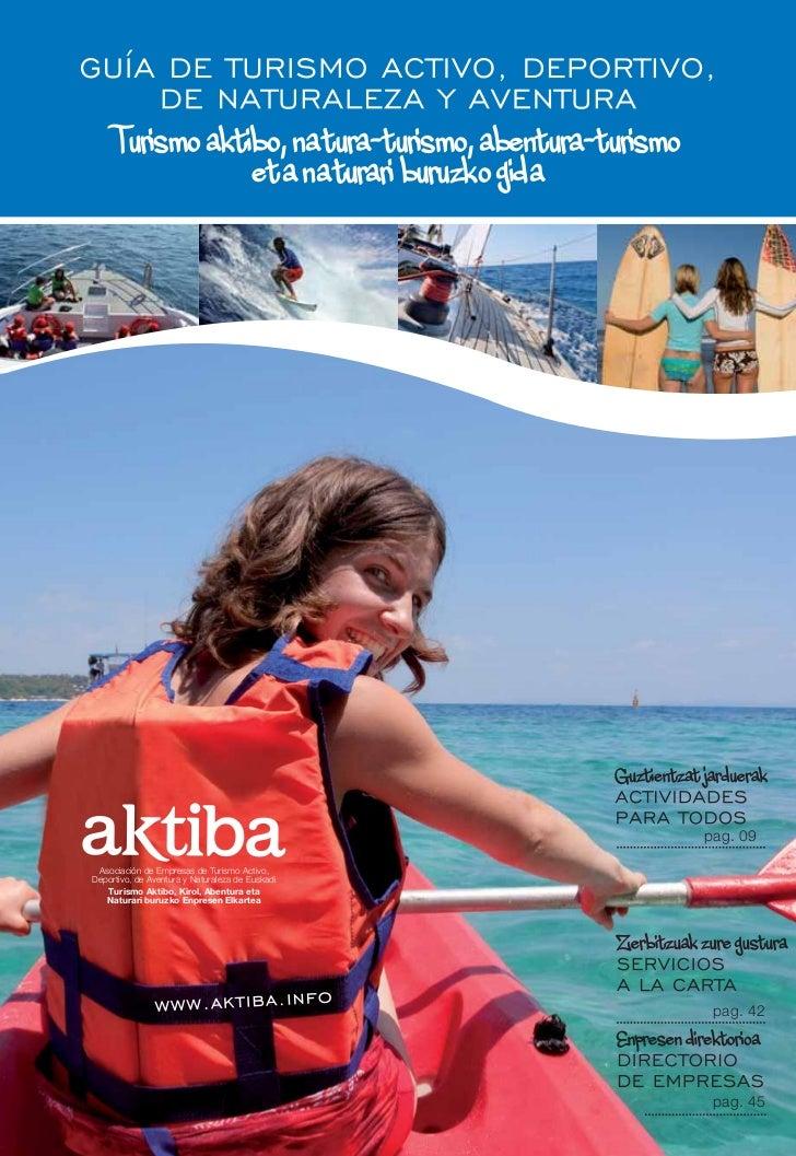 Turismo aktibo, na tura-turismo, abentura-turismo                  et a na turari buruzko gida                            ...