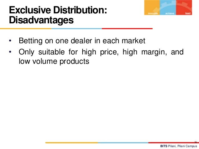 exclusive distribution advantages disadvantage The push and pull product distribution model examples and tips for using the push and pull strategies what is the push and pull model  advantages of the push.