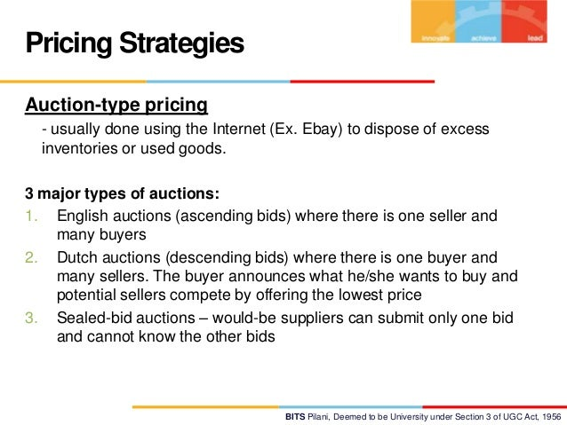 evaluation of different pricing strategies using An advantage of using competitive pricing is that selling prices pricing strategies: penetration pricing porter's model of generic strategies for.