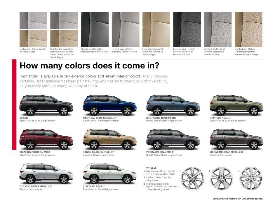 2012 Toyota Highlander Brochure Tampa Florida Toyota Dealer - Wesley …