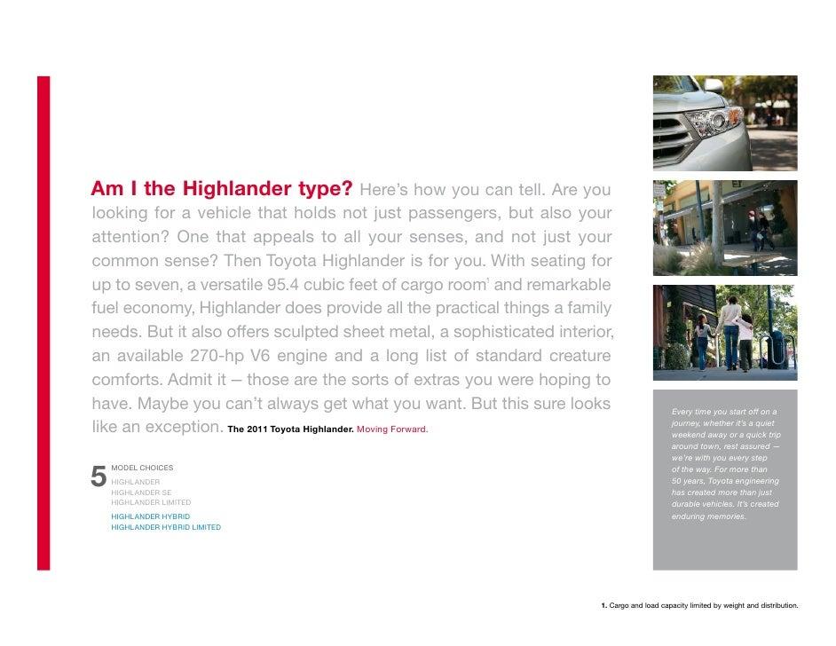 2012 Toyota Highlander Brochure Tampa Florida Toyota