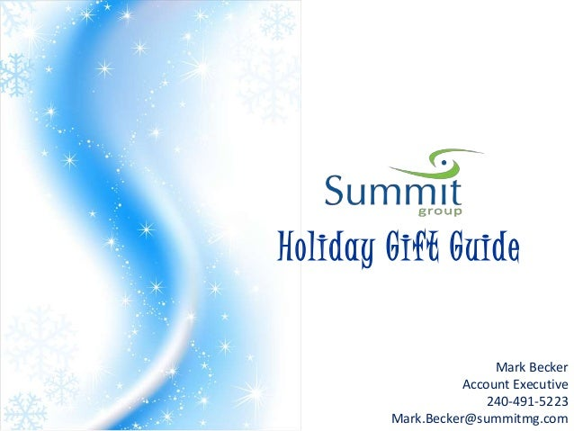 Holiday Gift Guide                        Mark Becker                   Account Executive                       240-491-52...